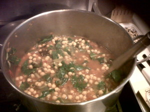 Chickpea and chard stew